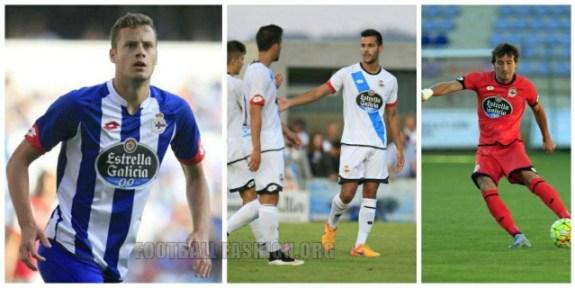 Deportivo de La Coruña 2015 20/16 Lotto Home, Away and Third Football Kit, Soccer Jersey, Shirt, Camiseta de Futbol, Equipacion