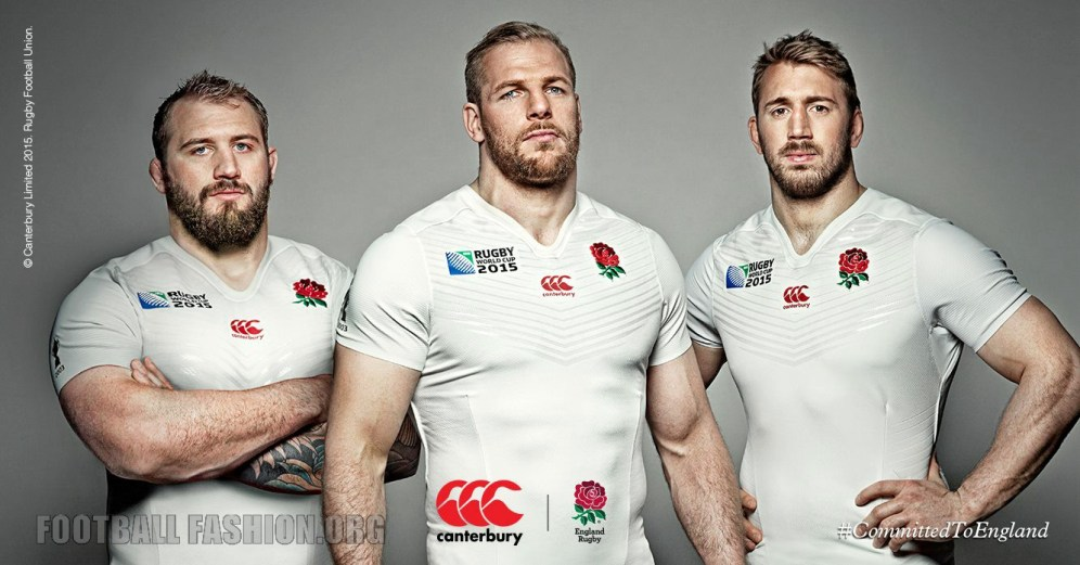 England 2015 Rugby World Cup Canterbury Home and Away Kit, Jersey, Shirt