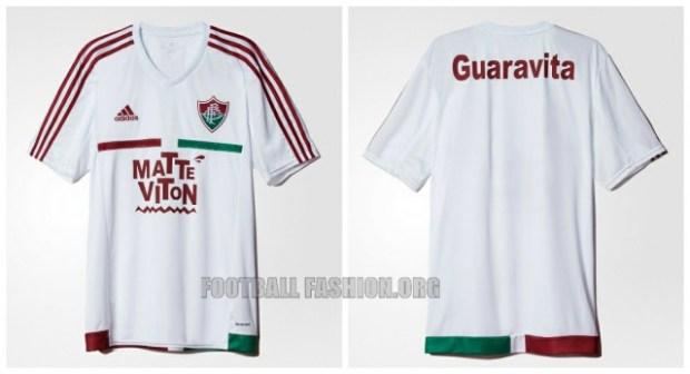 Fluminense 2015 2016 adidas Home and Away Football Kit, Soccer Jersey, Shirt, Camisa do Futebol