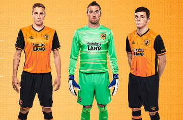 Hull City 2015 2016 Umbro Home and Away Football Kit, Soccer Jersey, Shirt