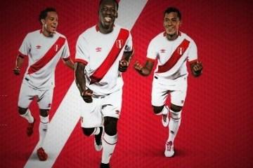 Peru 2015 2016 White Umbro Home Football Kit, Soccer Jersey, Shirt, Camiseta Blanca, Playera, Equipacion