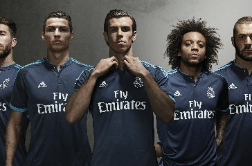 Real Madrid 2015 2016 adidas Dark Blue Third Football Kit, Soccer Jersey, Shirt, Camiseta de Futbol, Nueva Equipacion