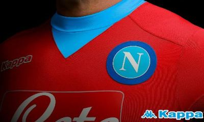 SSC Napoli Red 2015 2016 Kappa Third Football Kit, Soccer Jersey, Shirt, Maglia, Gara, Camiseta