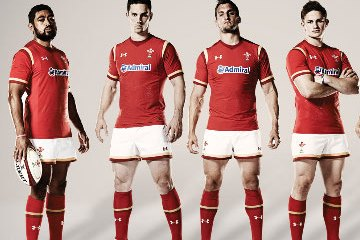 Wales 2015 Rugby World Cup Under Armour Home and Away Kit, Jersey, 2015/16 Shirt