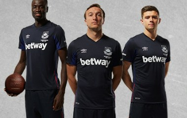 West Ham United Football Club 2015 2016 Umbro Third Kit, Soccer Jersey, Shirt