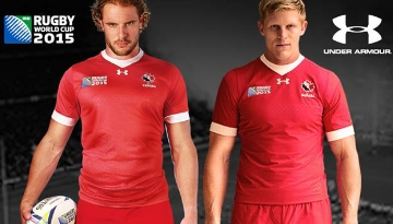 Canada 20115 Rugby World Cup Under Armour Home and Away Jersey, Shirt, Kit