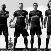 Paris Saint-Germain 2015 2016 Nike Black Third Football Kit, Soccer Jersey, Shirt, Maillot Noir
