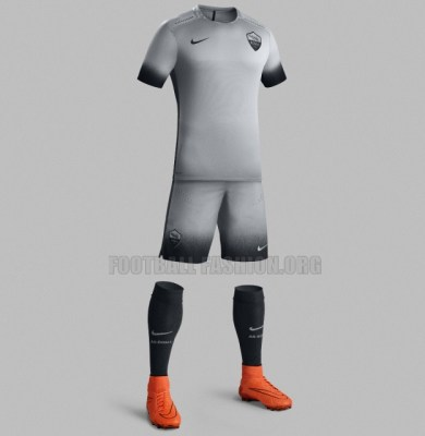 AS Roma 2015 2016 Nike Third Football Kit, Soccer Jersey, Shirt,Camiseta, Maglia, Gara