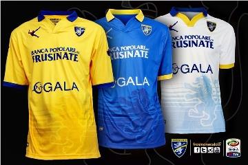 Frosinone Calcio 2015 2016 Legea Home, Away and Third Football Kit, Soccer Jersey, Shirt, Gara. Maglia