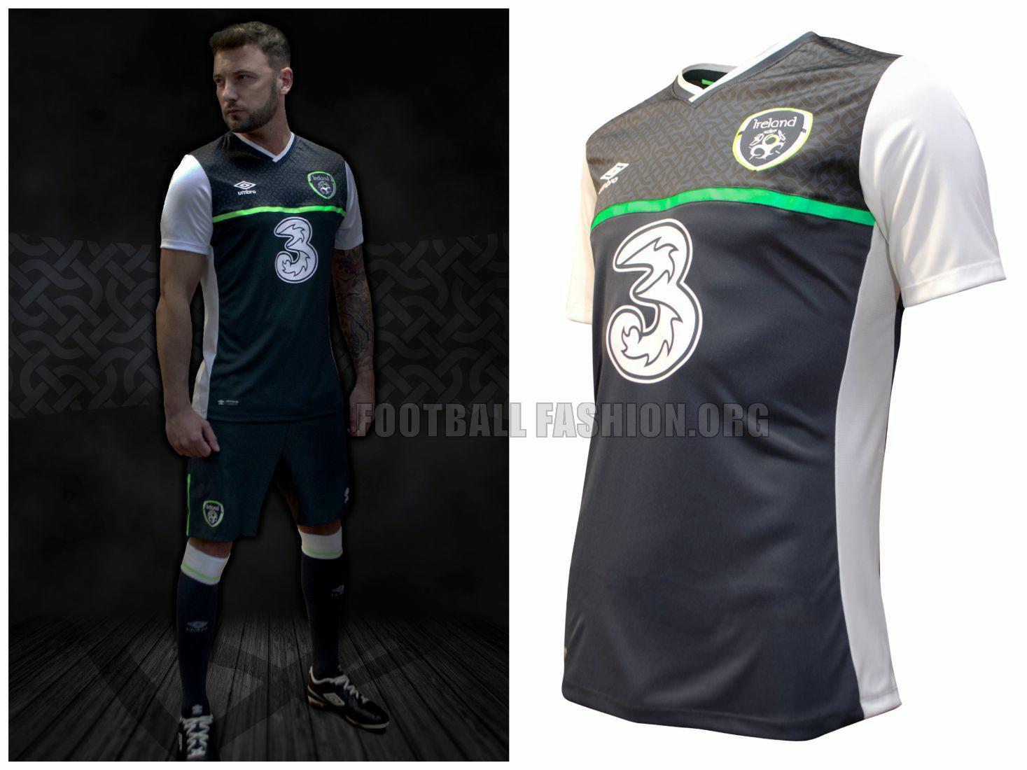 4ba73b6a7fc Republic of Ireland 2015 2016 Umbro Away Football Kit, Soccer Jersey, Shirt