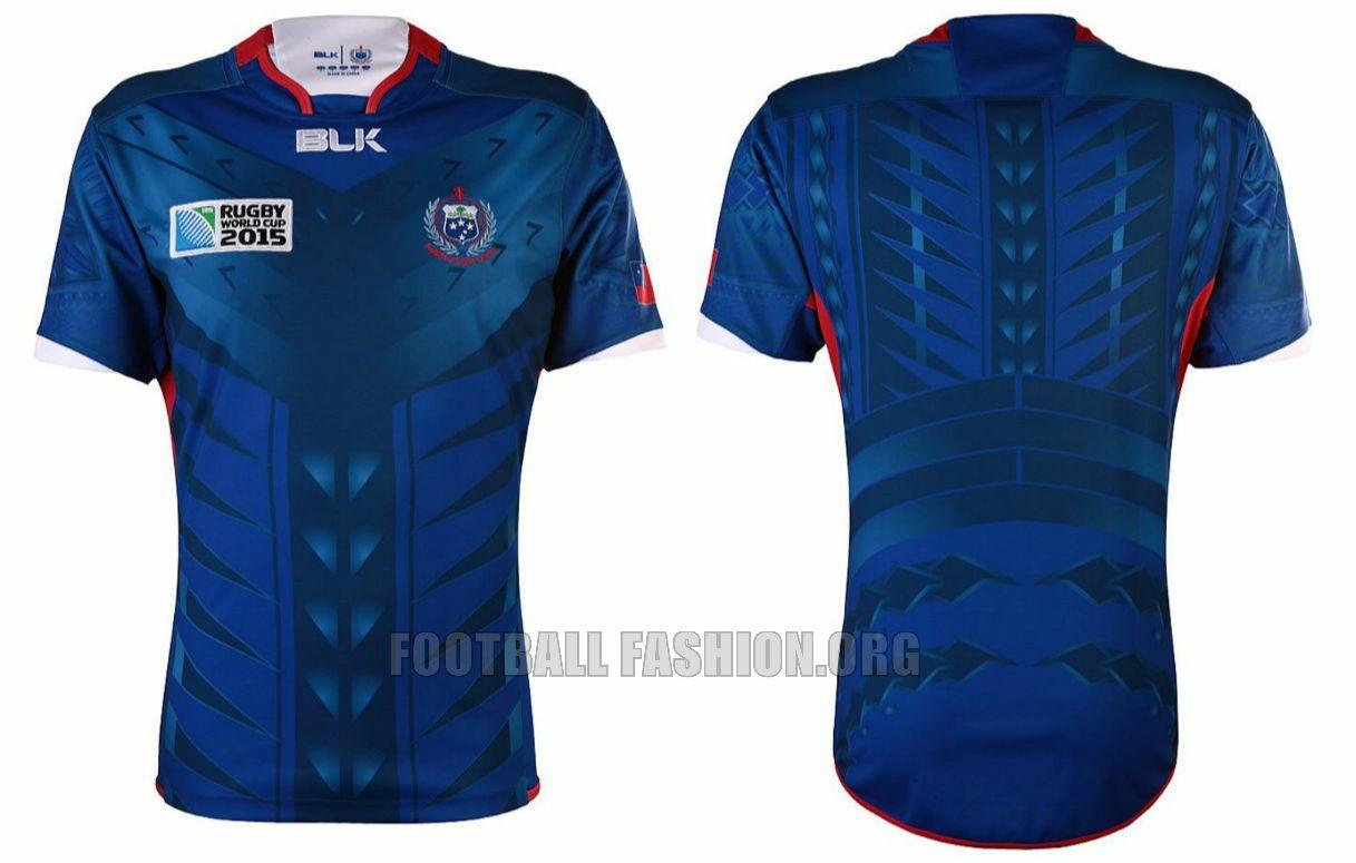 b9c92f06b43 Manu Samoa 2015 Rugby World Cup BLK Home and Away Jersey, Kit, Shirt