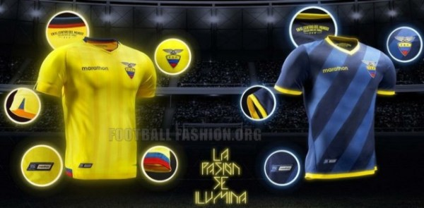 Ecuador 2015 2016 Marathon Home and Away Football Kit, Soccer Jersey, Shirt, Camiseta del Rumbo al Mundial 2018