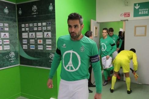"AS Saint-Étienne ""Pray for Paris"" le coq sportif Soccer Jersey, Shirt, Football Kit, Maillot"