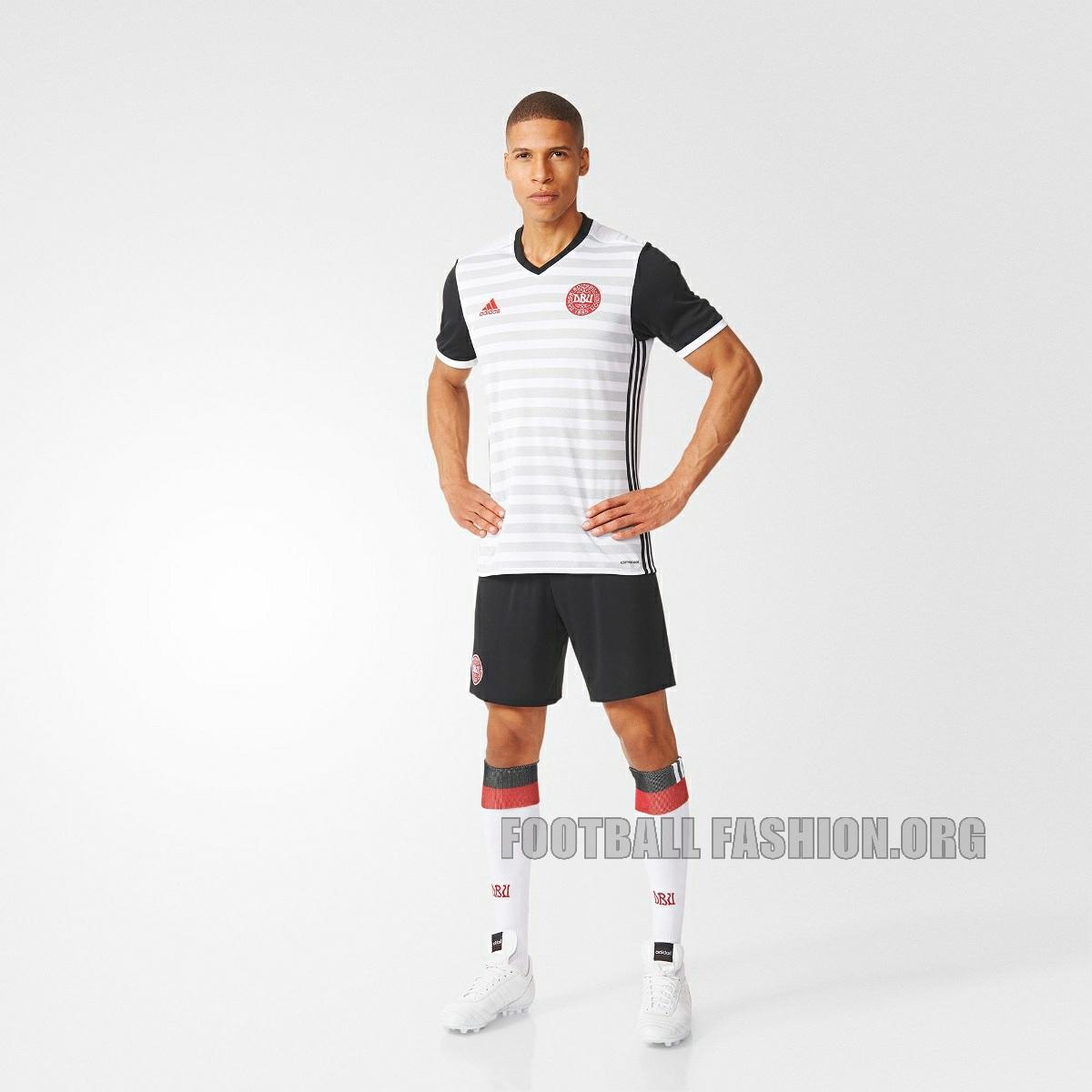3123d7695af Denmark 2016 17 adidas Away Kit - FOOTBALL FASHION.ORG