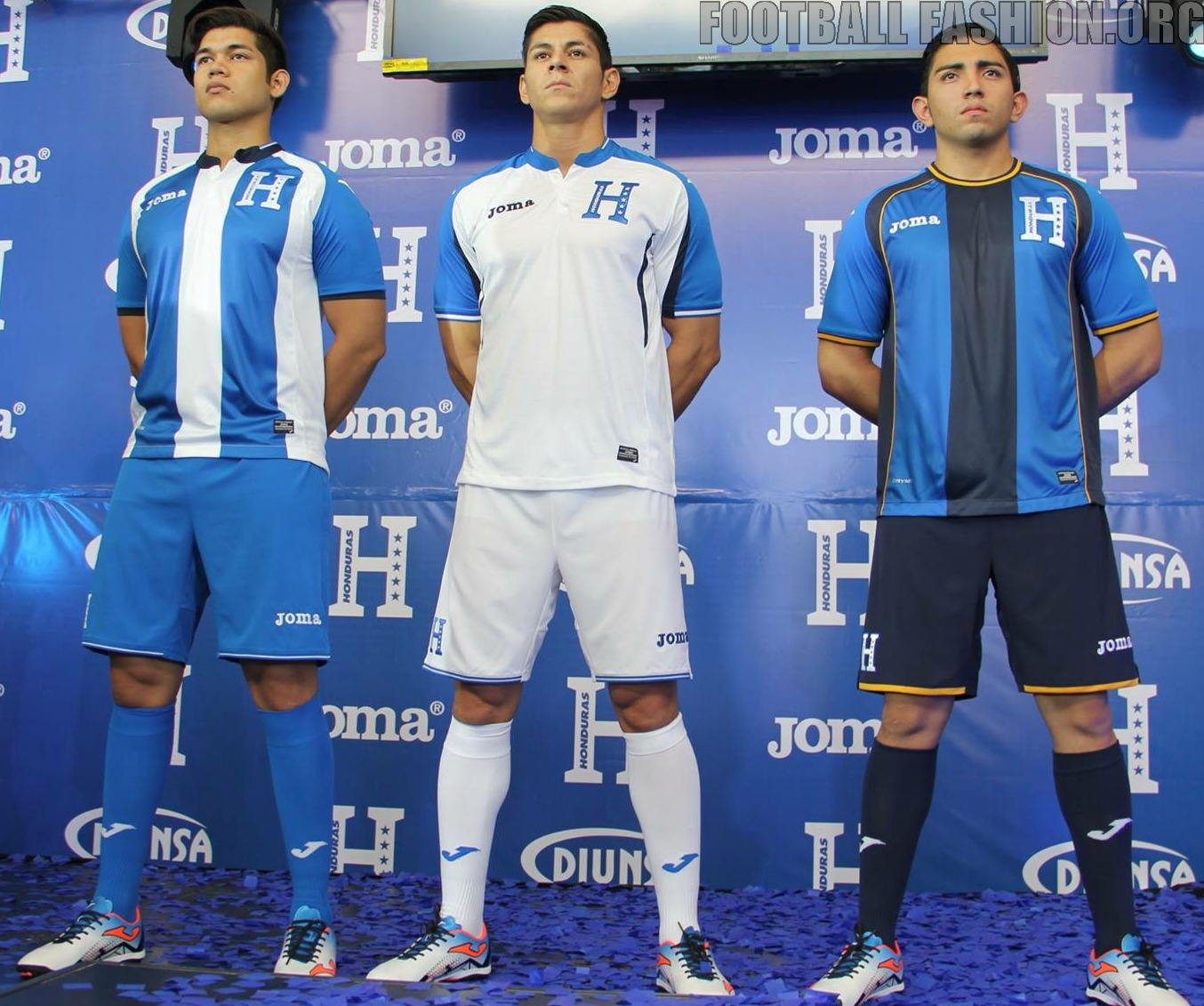 newest 1c4dd e3326 Honduras 2016/17 Joma Home, Away and Third Kits - FOOTBALL ...