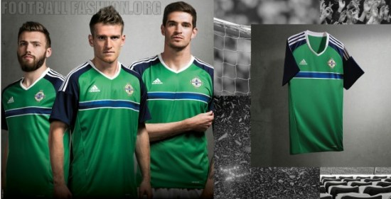 Northern Ireland EURO 2016 adidas Home and Away Football Kit, Soccer Jersey, Shirt