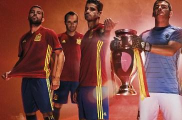 Spain EURO 2016 Red adidas Home Soccer Jersey, Shirt, Football Kit, Camiseta España 2016 2017, Piel, Equipacion