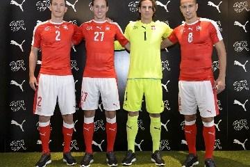 Switzerland EURO 2016 PUMA Home Football Kit, Soccer Jersey, Shirt. Trikot, Maillot