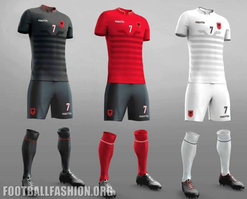 Albania EURO 2016 Macron Kit Designs – FOOTBALL FASHION.ORG ae305e445