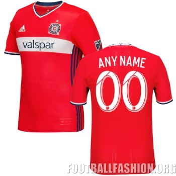 Chicago Fire 2016 adidas Home Soccer Jersey, Football Kit, Shirt, Camiseta de Futbol