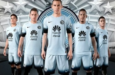 "Club América 2016 ""Night Rising"" Nike Gray Third Soccer Jersey, Football Kit, Shirt, Camiseta de Futbol, Piel, Equipacion"