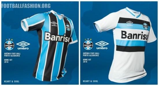 Grêmio 2016 Umbro Home and Away Football Kit, Soccer Jersey, Shirt, Camisa