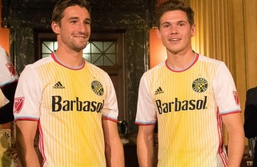 "Columbus Crew SC 2016 ""For Columbus"" adidas Away Soccer Jersey, Football Kit, Shirt, Camiseta de Futbol MLS"