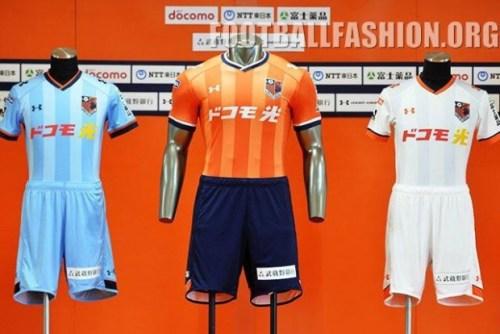 Omiya Ardija 2016 Under Armour Home and Away Football Kit, Soccer Jersey, Shirt