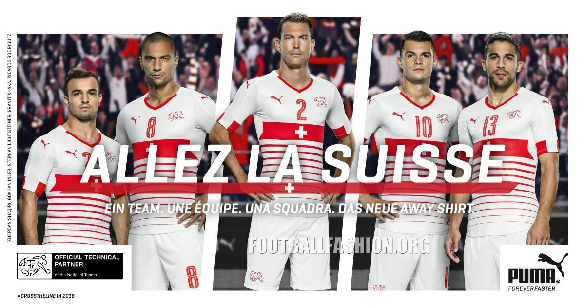 new style 14843 e3d84 Switzerland EURO 2016 PUMA Away Kit - FOOTBALL FASHION.ORG