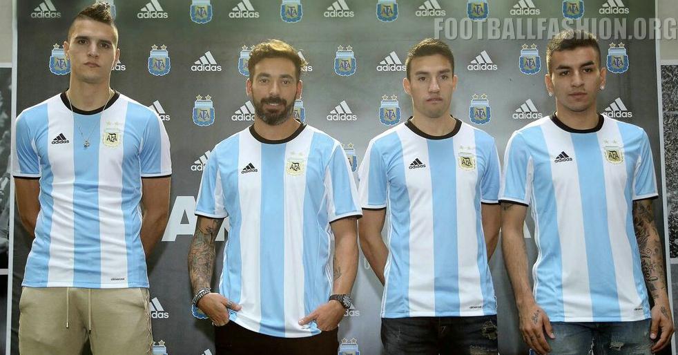 efae750f Argentina 2016 Copa América adidas Home Kit - FOOTBALL FASHION.ORG