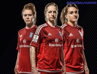 Birmingham City FC Ladies 2016 adidas Home and Away Football Kit, Soccer Jersey, Shirt