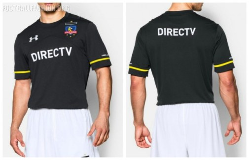 Colo-Colo 2016 Under Armour Black Away Football Kit, Soccer Jersey, Camiseta de Futbol, Equipacion, Piel, Indumentaria