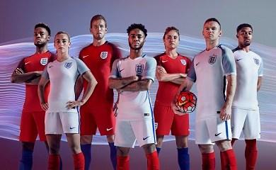 England EURO 2016 Nike Home and Away Football Kit, Soccer Jersey, Shirt, 2017 Kit