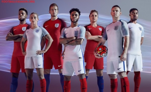 England EURO 2016 Nike Home and Away Football Kit, Soccer Jersey, Shirt