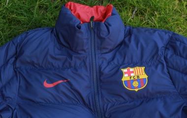 Up-Close: FC Barcelona Core Padded Reversible Jacket
