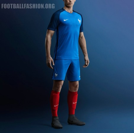 France EURO 2016 Nike Home and Away Football Kit, Soccer Jersey, Shirt, Maillot, Tenue