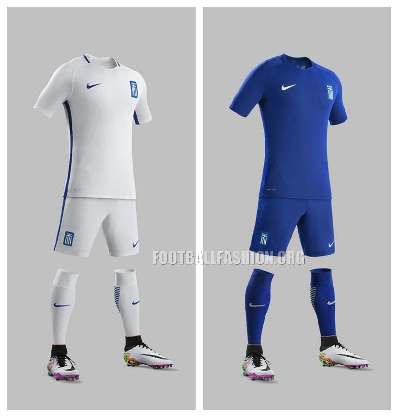 Greece 2016 17 Nike Home And Away Kits Football Fashion Org