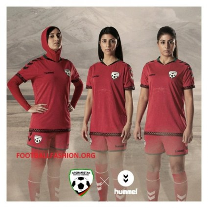 hummel Presents Afghanistan 2016 Football Kit with Hijab, Soccer Jersey, Afghan Shirt
