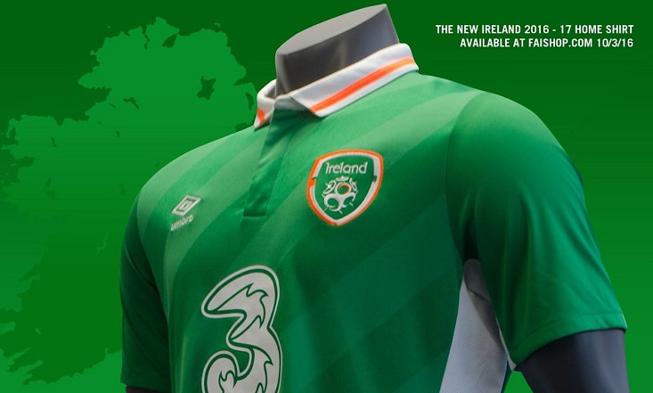 6e3755a53ad Reminiscent of the home shirt worn by the Irish during their run to the  Round of 16 of the 1994 World Cup