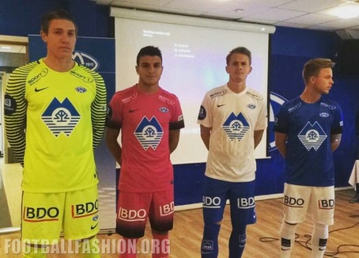 Molde FK 2016 Nike Home, Away and Third Football Kit, Shirt, Soccer Jersey, Nye Drakt