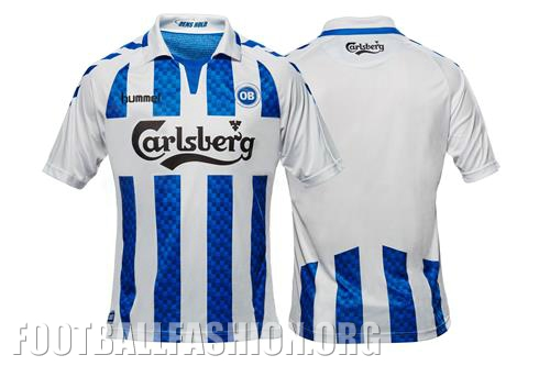 Odense BK 2016 2017 hummel Home Football Kit, Soccer Jersey, Shirt, trøje