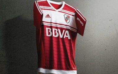 River Plate 2016 adidas Away Football Kit, Soccer Jersey, Shirt, Camiseta Alternativa, Equipacion, Playera Roja