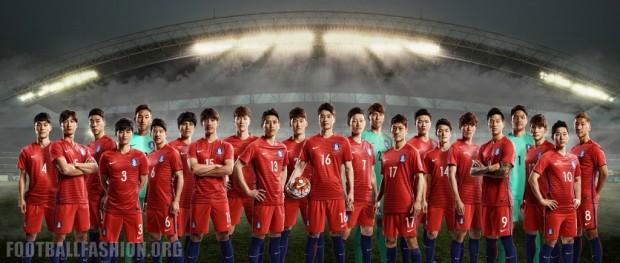 South Korea 2016/17 Nike Home and Away Football Kit, Soccer Jersey, Shirt