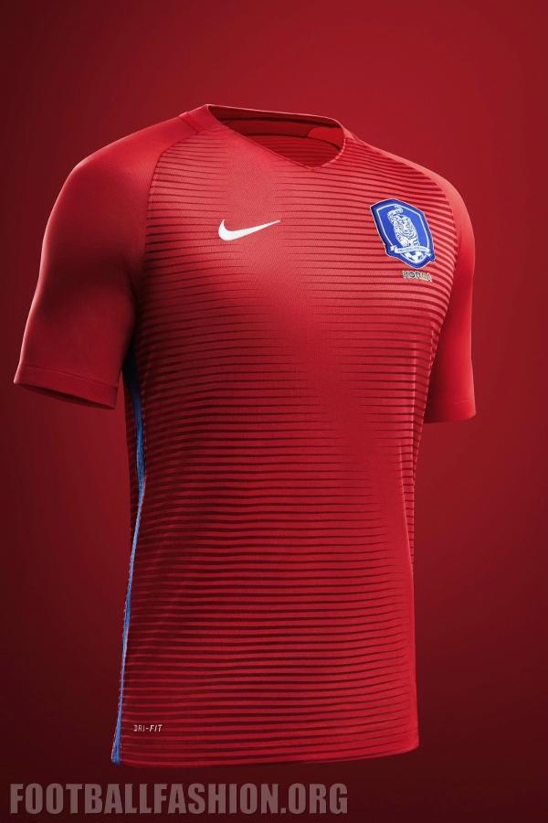 f8837be39d8 South Korea 2016 17 Nike Home and Away Kits - FOOTBALL FASHION.ORG