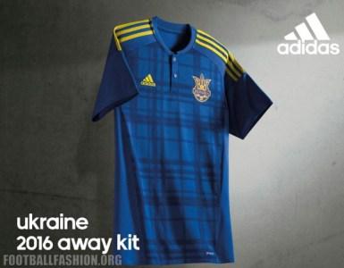 Ukraine EURO 2016 adidas Blue Away Football Kit, Soccer Jersey, Shirt, 2017