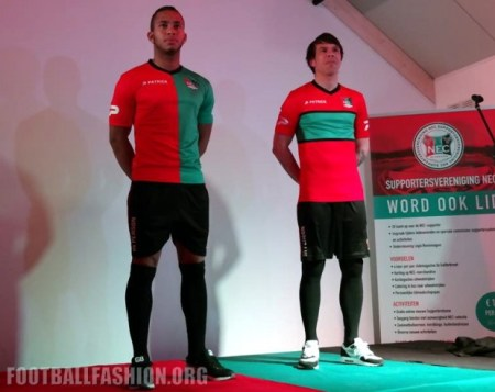 NEC Nijmegen 2016 2017 Patrick Home Football Kit, Soccer Jersey, Shirt, Thuisshirt, Tenue