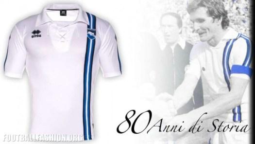 Pescara Calcio 80th Anniversary Errea Soccer Jersey, Football Kit, Shirt, Maglia Commemorativa 80 Anni