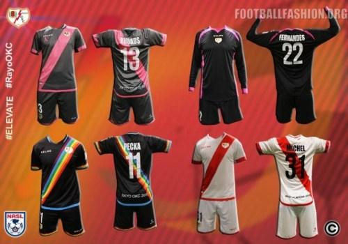 Rayo OKC 2016 Kelme Home, Away and Third Soccer Jersey, Football Kit, Shirt
