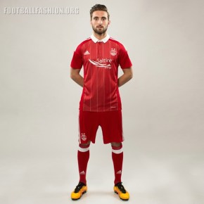 Aberdeen FC 2016 2017 adidas Home Football Kit, Soccer Jersey, Shirt