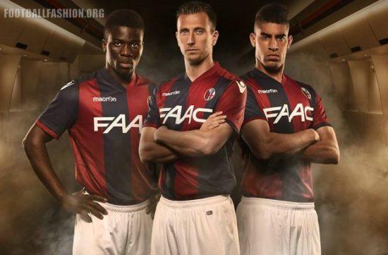 Bologna FC 2016 2017 Macron Home Football Kit, Soccer Jersey, Shirt, Maglia, Gara
